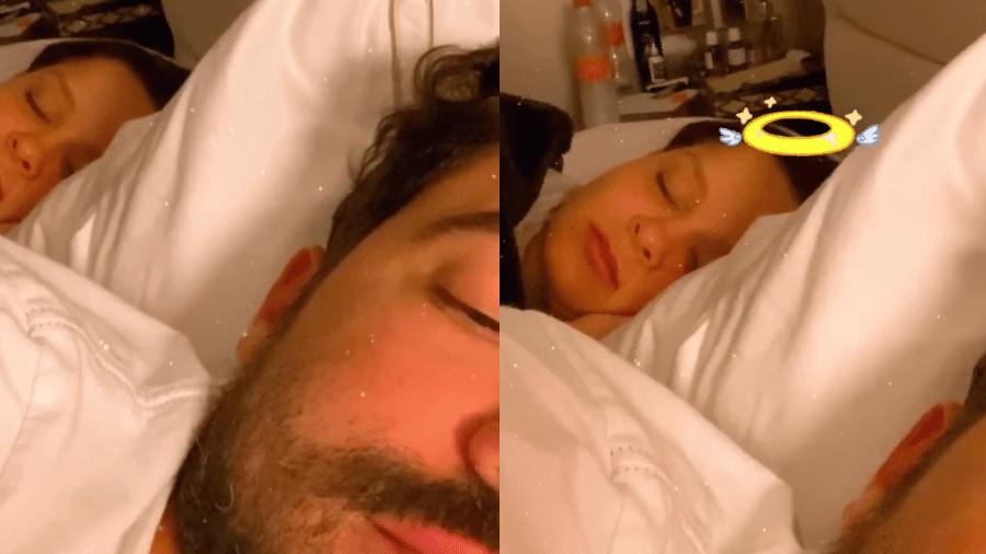 Fernando brincou com o temperamento da namorada, Maiara, ao filmar a cantora dormindo - Reprodução/Instagram/@fernandozor