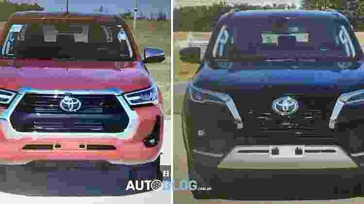 Novos Hilux e SW4 - Reprodução/Argentina Autoblog - Reprodução/Argentina Autoblog