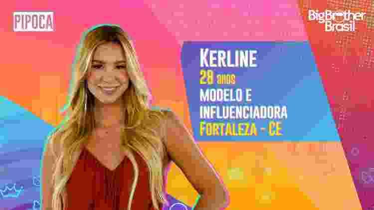Kerline, do BBB 21 - Divulgação - Divulgação