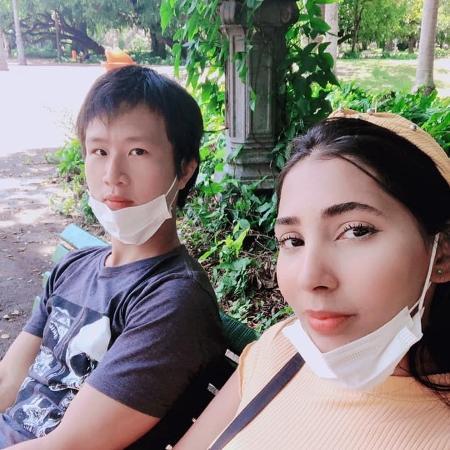 Rafaela Barros e Huang Zhen Sheng - Acervo pessoal
