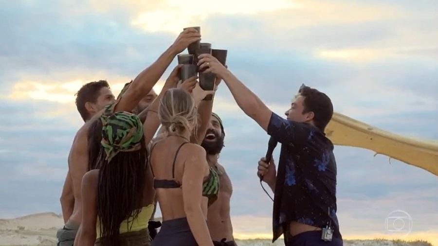 No Limite: Wesley Safadão anima luau para tribo calango - Reprodução/Rede Globo