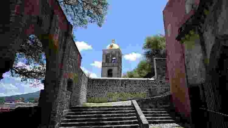 Conjunto franciscano do mosteiro e catedral de Nossa Senhora da Assunção em Tlaxcala, México - Getty Images - Getty Images