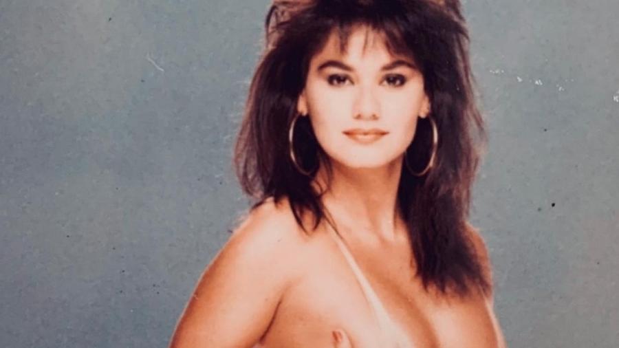 A atriz e modelo Magda Cotrofe durante ensaio para a revista Playboy em 1986 - Reprodução/Instagram