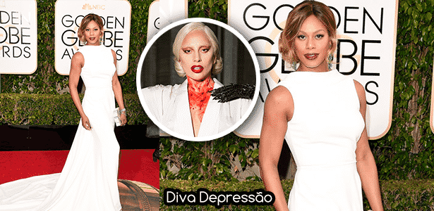 Diva Laverne Cox - Montagem/Diva Depressão - Montagem/Diva Depressão