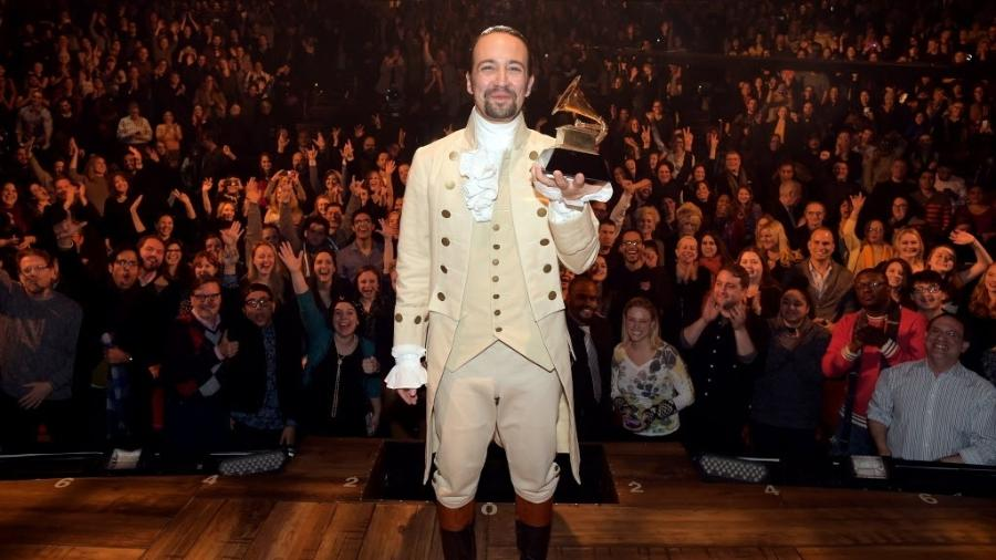 "Lin-Manuel Miranda em ""Hamilton""  - Theo Wargo/Getty Images/AFP"