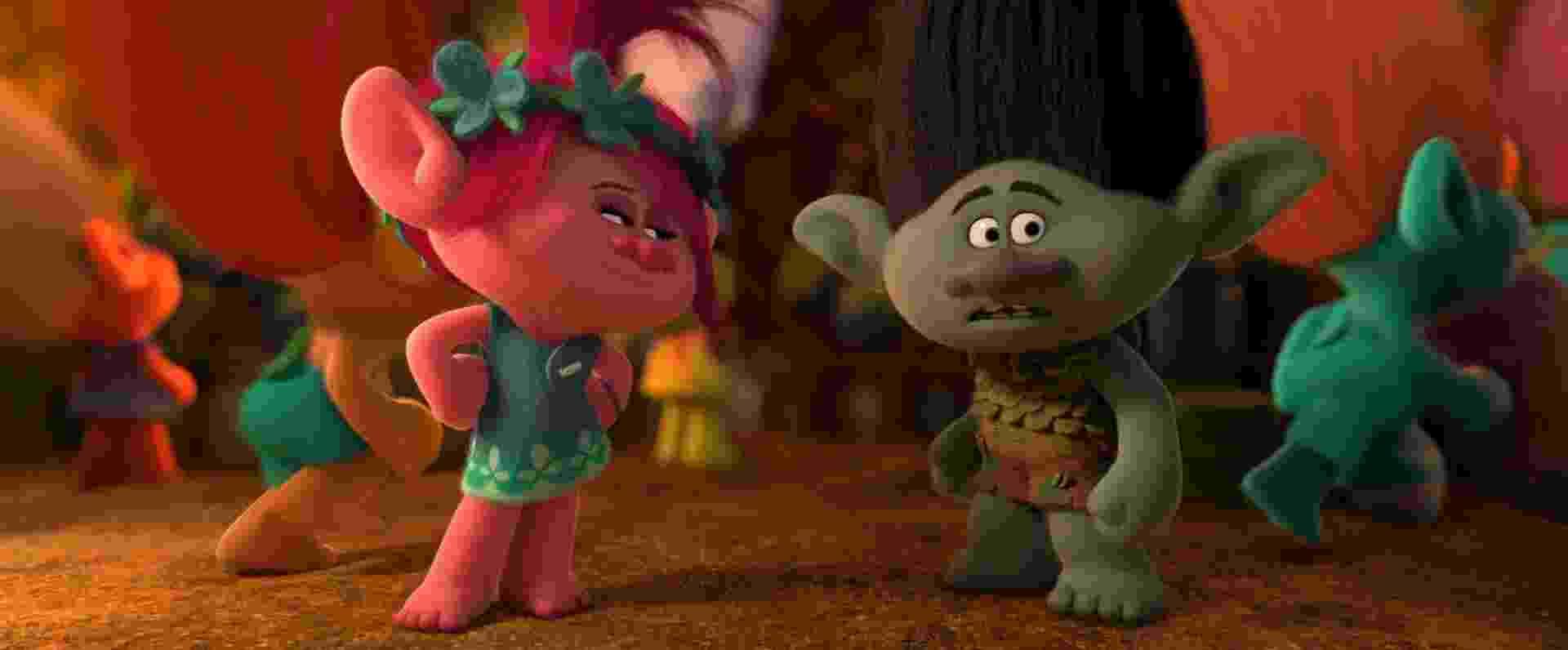 """Os personagens dublados por Anna Kendrick e Justin Timberlake na animação """"Trolls"""", que estreia em 27 de outubro - Divulgação"""
