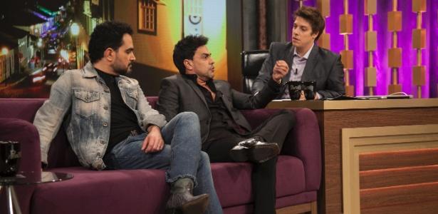 """Zezé e Luciano foram convidados desta quarta-feira no """"Programa do Porchat"""" - Edu Moraes/Record"""