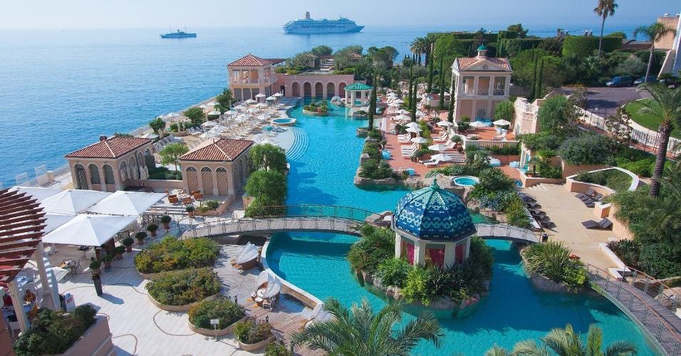 Vista aérea do Monte-Carlo Bay Hotel & Resort