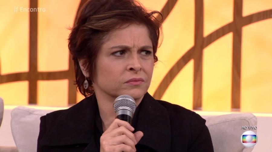 """Drica Moraes participa do """"Encontro"""" e faz protesto contra padrão de beleza - Reprodução/TV Globo"""