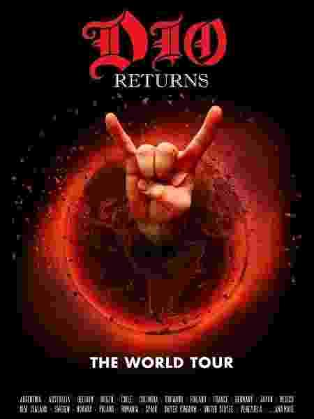 """Pôster da turnê """"Dio Returns"""" - Divulgação"""