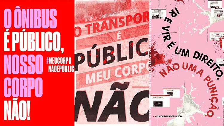 Cartazes da campanha #meucorponãoépúblico - Reprodução - Reprodução