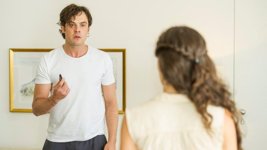"""Gael (Sergio Guizé) é agressivo com a mulher em """"O Outro Lado do Paraíso"""" - Mauricio Fidalgo/TV Globo"""