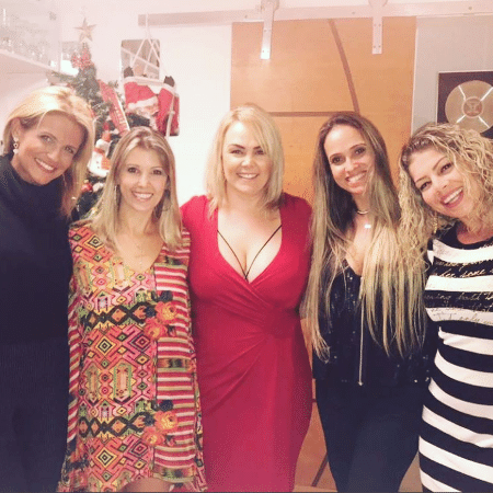 Tatiana Maranhão, Roberta Cipriani Ana Paula Almeida, Priscilla Couto e Cátia Paganote se reencontram - Reprodução/Instagram/tatianamaranhao