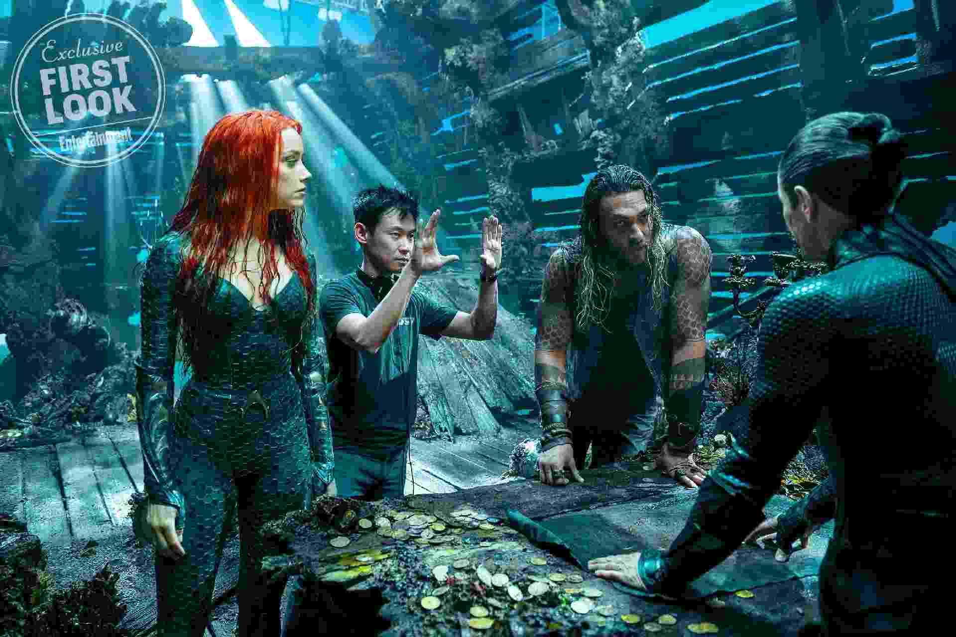 Bastidores do filme Aquaman - Reprodução/EW