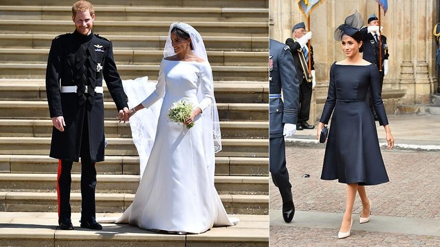 Meghan Markle Usa Versão Preta De Seu Vestido De Casamento