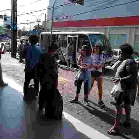 Teresa distribuiu panfletos informativos sobre violência contra a mulher na estação Butantã do metrô - Arquivo Pessoal