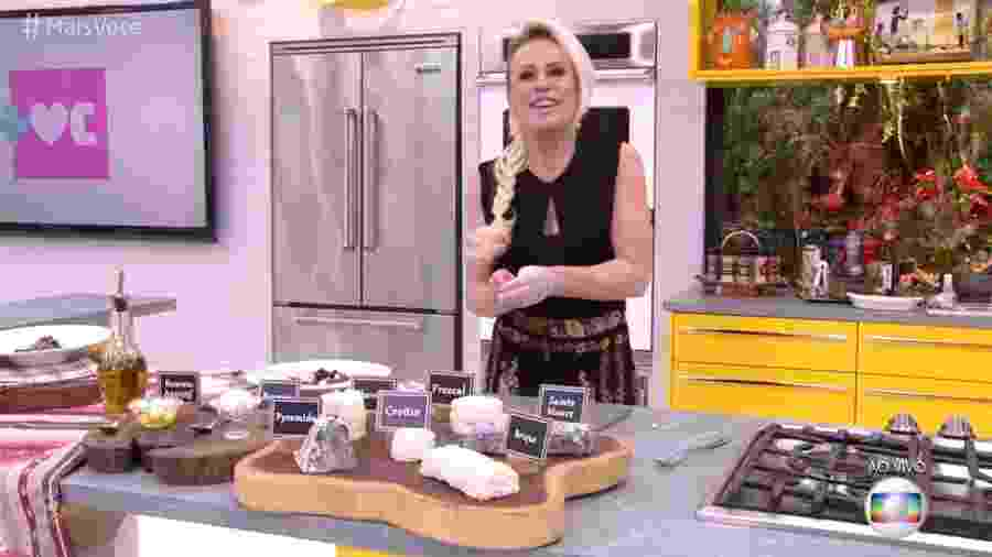 """Ana Maria usa trança postiça no """"Mais Você"""" - Reprodução/Globo"""