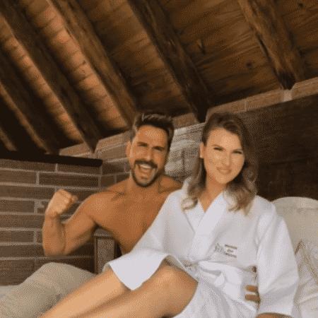 Julio Rocha e Karoline Kleine - Reprodução/Instagram