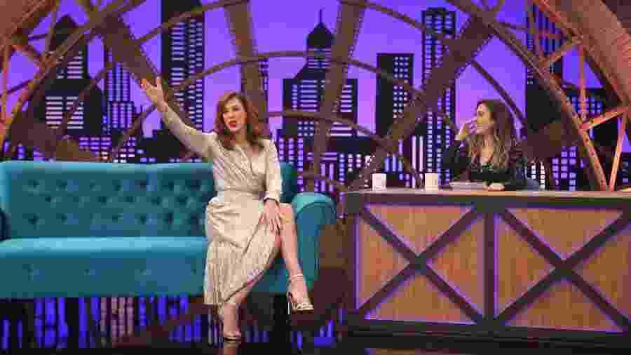 "Tatá Werneck entrevista Claudia Raia no ""Lady Night"" - Gianne Carvalho/Multishow"