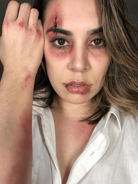 """Naiara Azevedo em bastidor do clipe """"Coração Pede Socorro"""", sobre a violência doméstica - Reprodução/Instagram"""