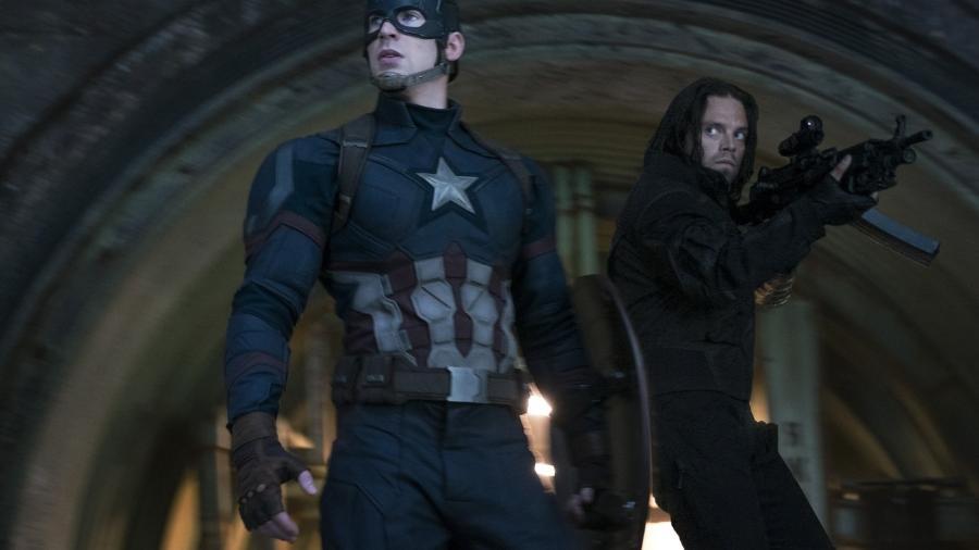 Capitão América (Chris Evans) e Soldado Invernal (Sebastian Stan)  - Reprodução