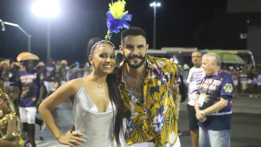 Gleici e Wagner no ensaio técnico da Paraíso do Tuiuti - Daniel Pinheiro/AgNews