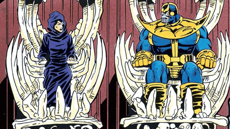 """Morte e Thanos na HQ """"Desafio Infinito"""" - Reprodução - Reprodução"""