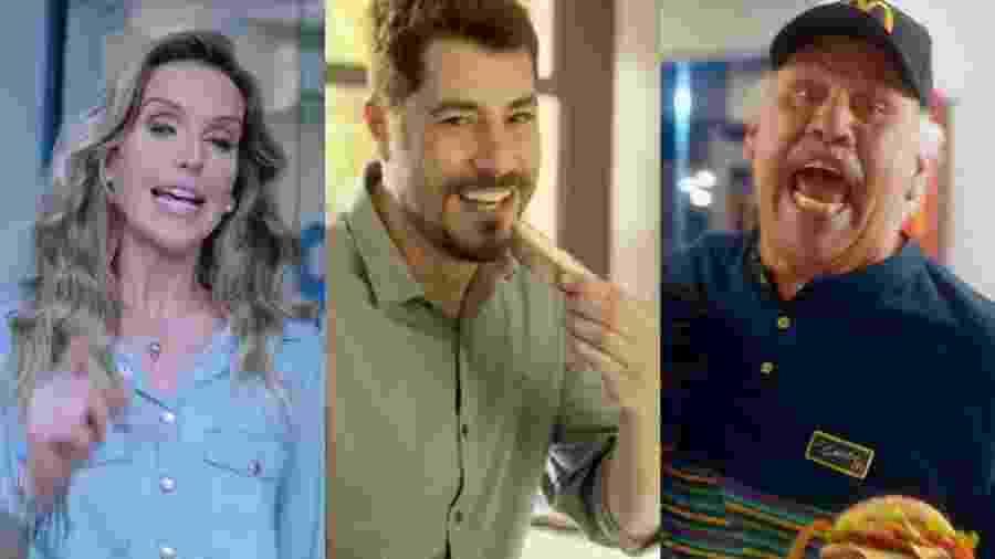 Mariana Ferrão (Dr. Consulta), Evaristo Costa (Qualy) e Márcio Canuto (McDonalds) - Reprodução