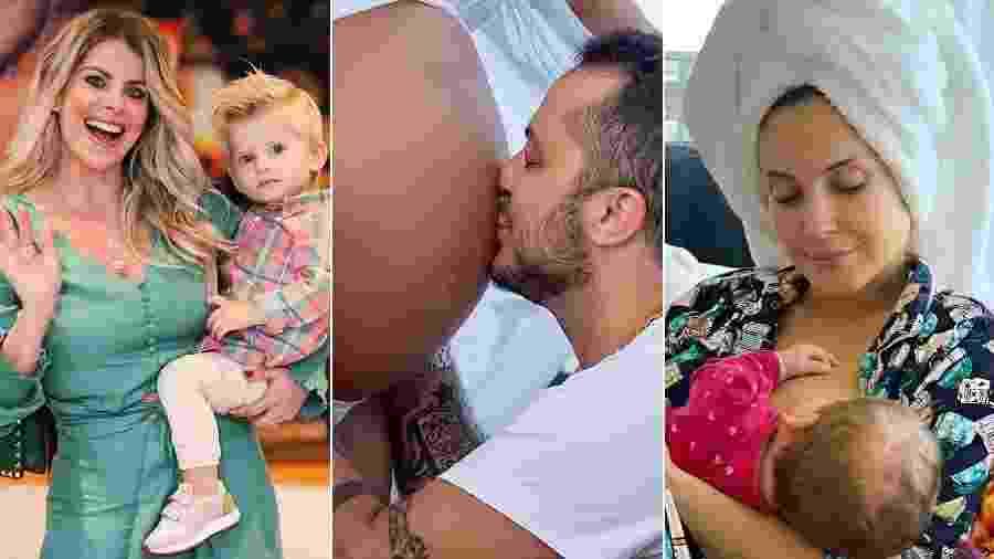 Karina Bacchi, Thammy Miranda e Claudia Leitte estão entre os famosos que escolheram Miami para ter filhos - Montagem/UOL