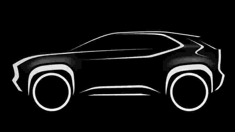 Teaser de SUV da Toyota baseado no Yaris - Divulgação