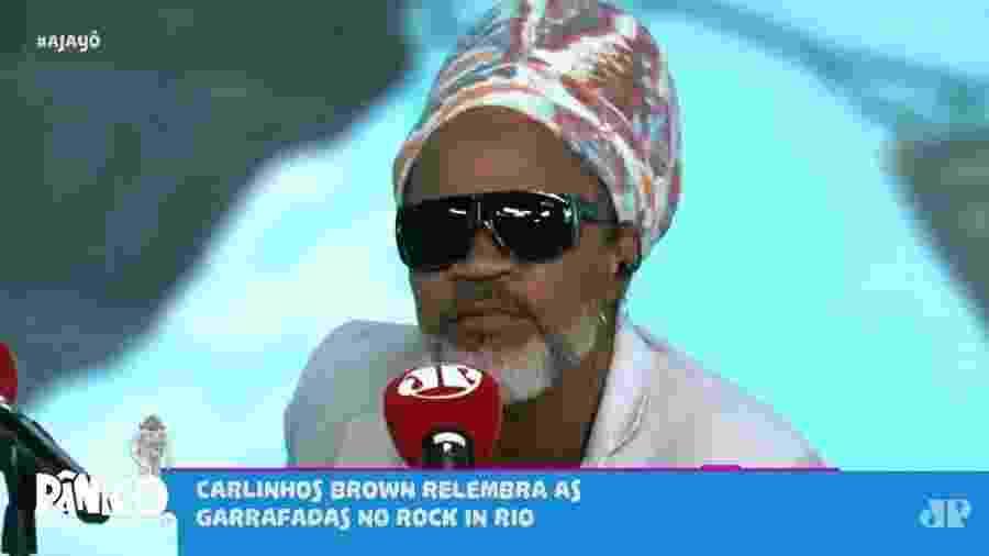 Carlinhos Brown participa do Programa Pânico, da rádio Jovem Pan - Reprodução/Jovem Pan