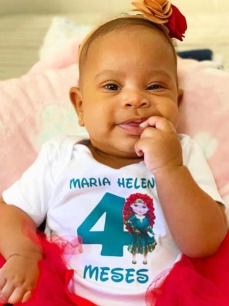 Maria Helena, filha do cantor Péricles, completa quatro meses - Reprodução/Instagram