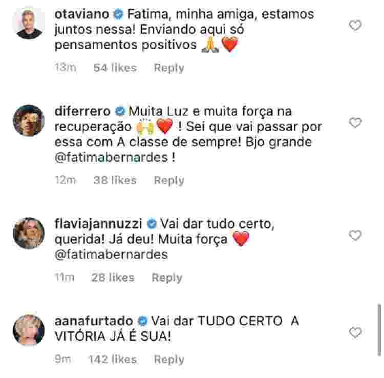 Fátima Bernardes está com câncer; Famosos comentam (6) - Reprodução/Instagram - Reprodução/Instagram