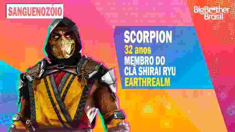 Scorpion no BBB - Montagem: Allan Francisco / Divulgação (Warner Bros.) - Montagem: Allan Francisco / Divulgação (Warner Bros.)