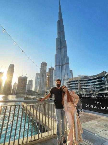 """Maiara e Fernando deram fim a """"mistério"""" sobre suas férias a dois, posando em Dubai - Reprodução/Instagram"""
