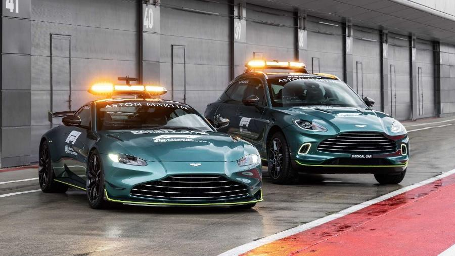 Aston Martin Vantage e DBX serão Safety Car e Medical Car na F1 - Divulgação