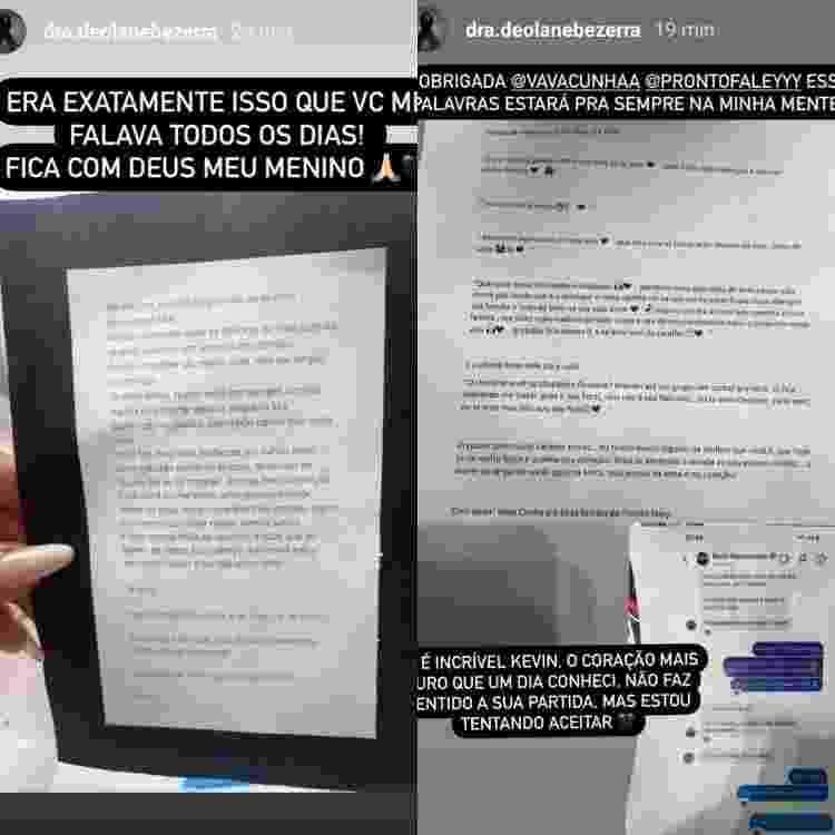 Deolane Bezerra, viúva de MC Kevin, compartilha carta feita pelo cantor para o Dia dos Namorados - Reprodução/Instagram - Reprodução/Instagram
