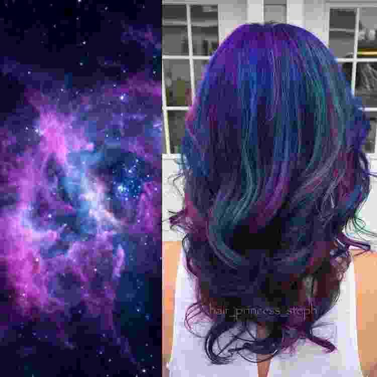 Galaxy Hair - Reprodução/Instagram/@hair_princess_steph