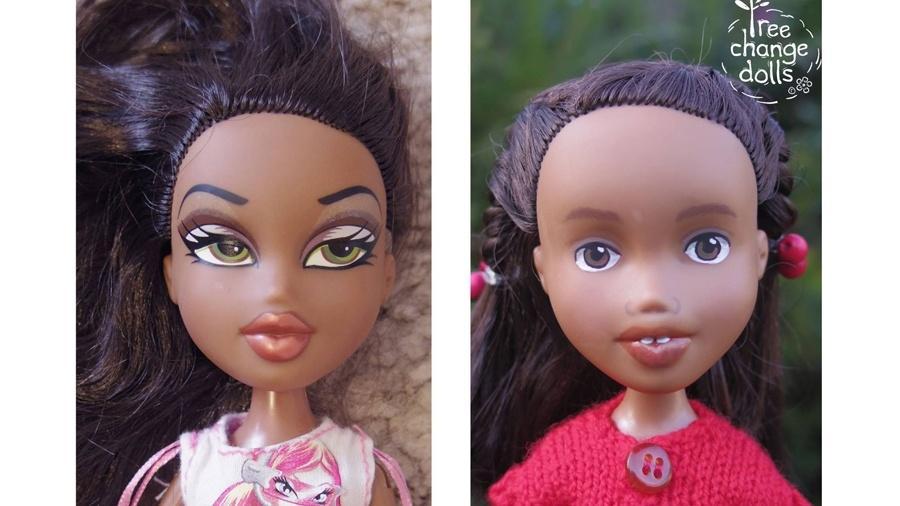 Bonecas recicladas e transformadas pela artista australiana Sonia Singh - Reprodução/Facebook