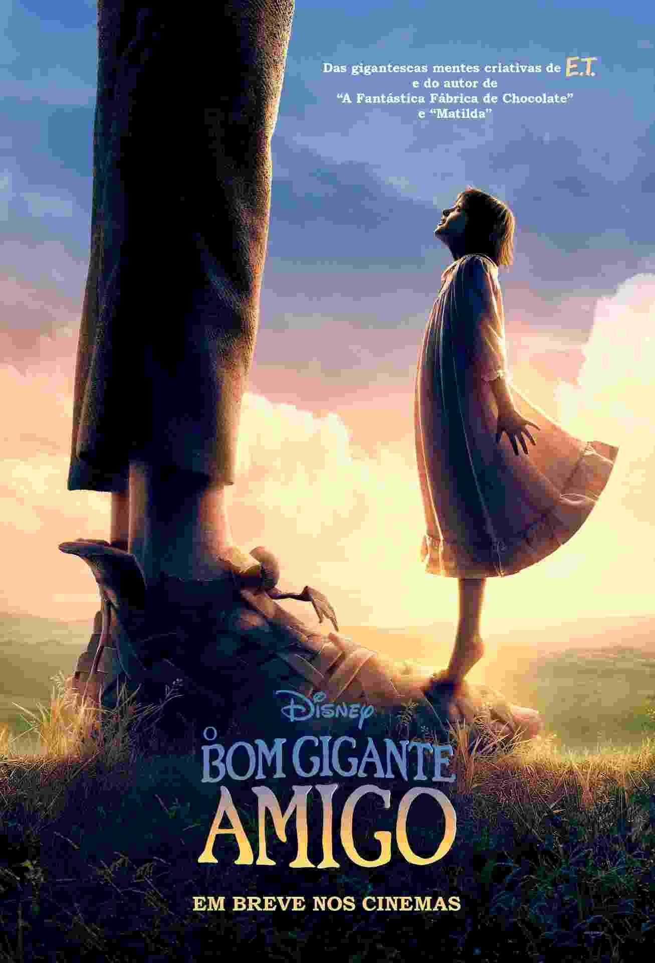 """Cartaz nacional do filme """"O Bom Gigante Amigo"""", primeiro filme da Disney dirigido por Steven Spielberg - Divulgação"""