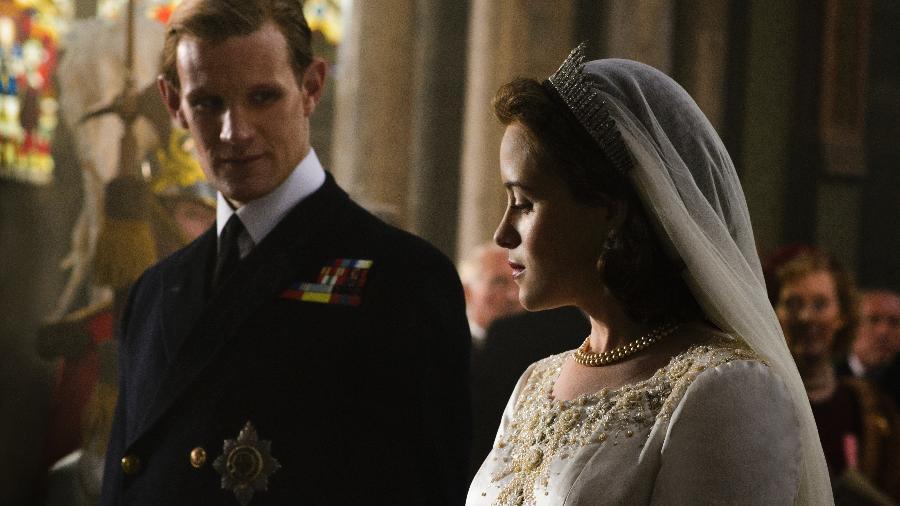 """Claire Foy e Matt Smith em """"The Crown"""" - Divulgação"""