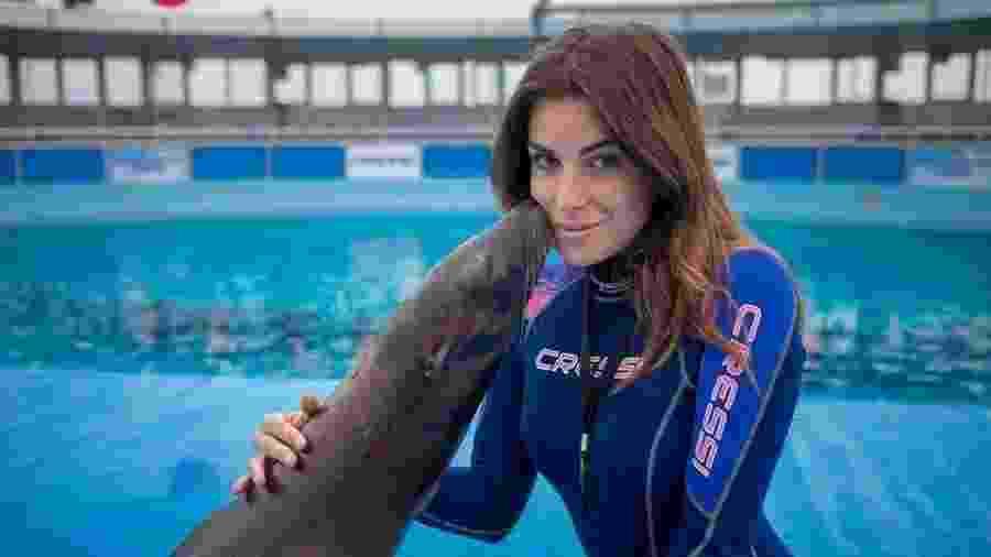 A ex-miss italia Gessica Notaro era adestradora em um aquário - Reprodução/Facebook