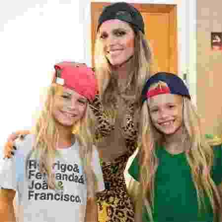 Fernanda Lima e os filhos João e Francisco - Reprodução/Gshow