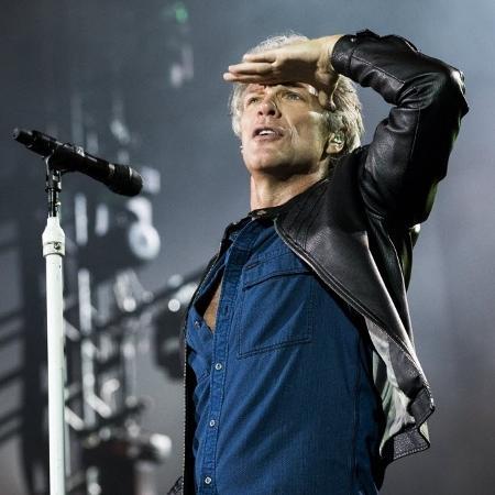 Bon Jovi faz gracinha na apresentação para o público de São Paulo em setembro - Mariana Pekin/UOL