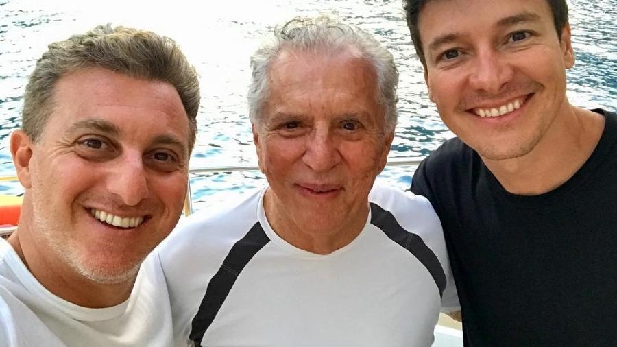 Luciano Huck, Carlos Alberto de Nóbrega e Rodrigo Faro curtem feriado juntos - Reprodução/Instagram/rodrigofaro
