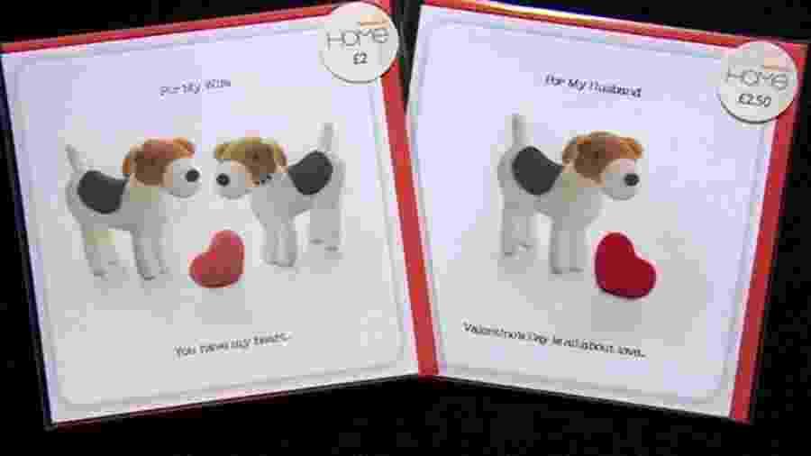 """Cartões """"para maridos"""" estavam sendo vendidos por preço maior do que """"para esposas"""" - BBC"""