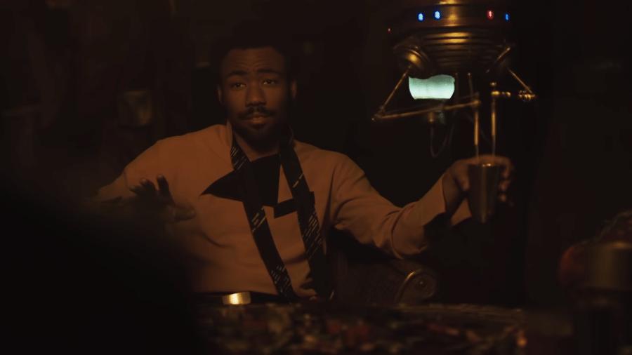 """Donald Glover é Lando em """"Han Solo"""" - Reprodução"""