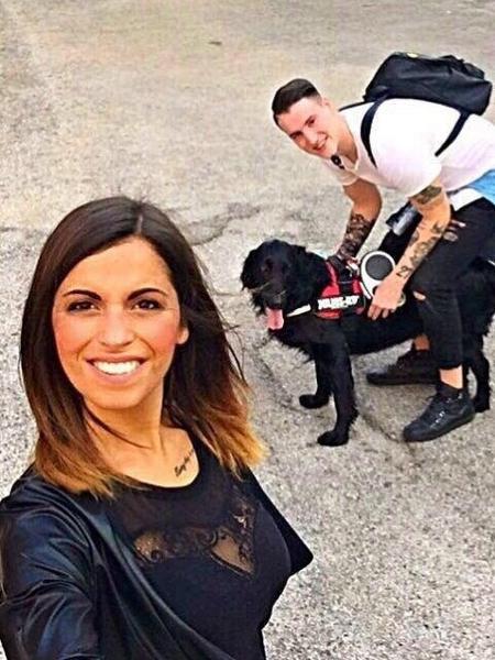 Elisa e o jogador italiano de futebol Federico Zini - Reprodução/Facebook