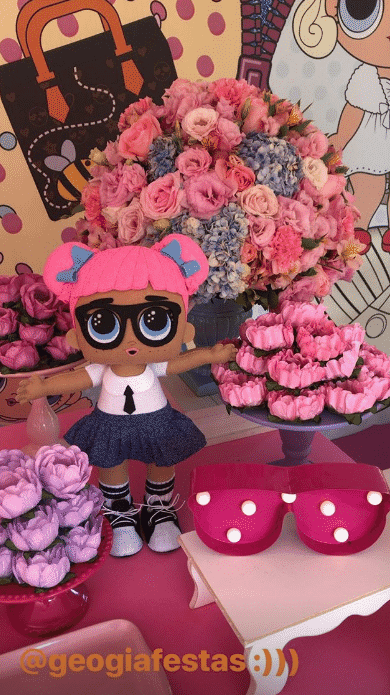 O tema da festa foram as bonequinhas LOL Dolls - Reprodução/Instagram