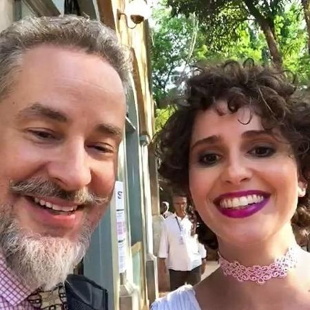 """Dan Stulbach reencontra Carol Duarte em gravação de """"O Sétimo Guardião"""" - Reprodução/Instagram/danstulbach"""